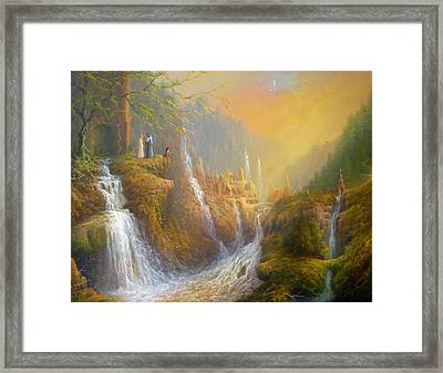 Rivendell Wisdom Of The Elves. Framed Print by Joe  Gilronan