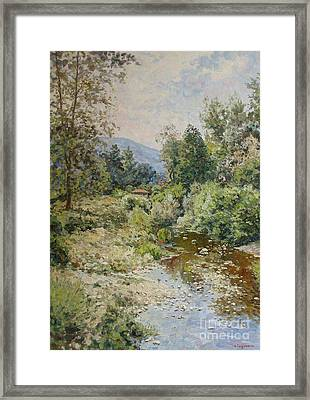 River At Bulgarian Foothills Framed Print by Andrey Soldatenko