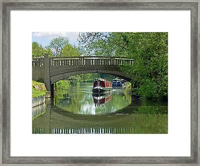 River At Harlow Mill Framed Print by Gill Billington