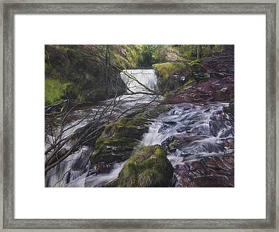 River At Talybont On Usk In The Brecon Beacons Framed Print by Harry Robertson