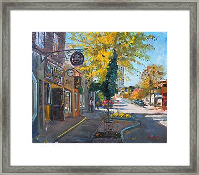 River Coyote Gallery Mississauga Framed Print by Ylli Haruni