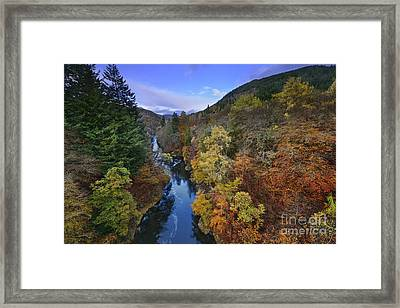 River Garry - Scotland Framed Print by Rod McLean