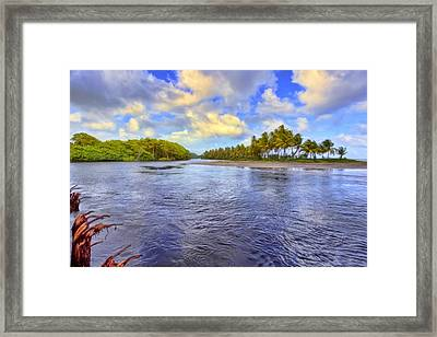 River Island Framed Print by Nadia Sanowar