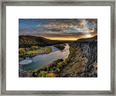 River Magic Framed Print by Leland D Howard