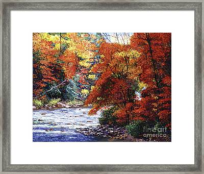 River Of Colors Framed Print by David Lloyd Glover