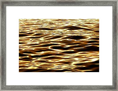 River Of Gold Framed Print by Az Jackson