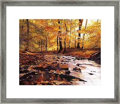 River Of Gold Framed Print by David Lloyd Glover