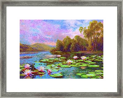 The Wonder Of Water Lilies Framed Print by Jane Small