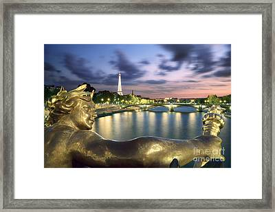River Seine - Paris Framed Print by Rod McLean