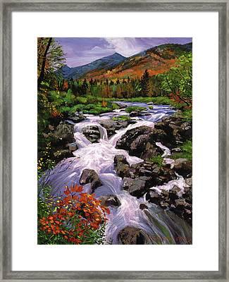 River Sounds Framed Print by David Lloyd Glover