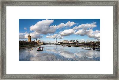 River Thames London Framed Print by Adrian Evans