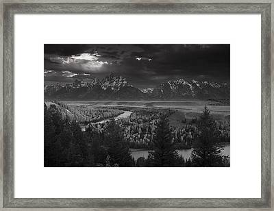 River Thru The Mountains Framed Print by Andrew Soundarajan