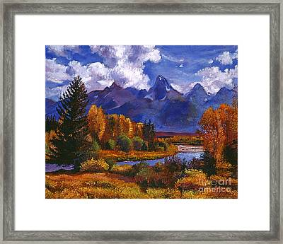 River Valley Framed Print by David Lloyd Glover