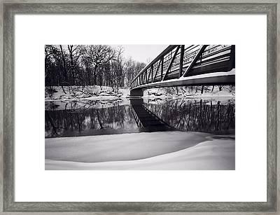River View B And W Framed Print by Steve Gadomski