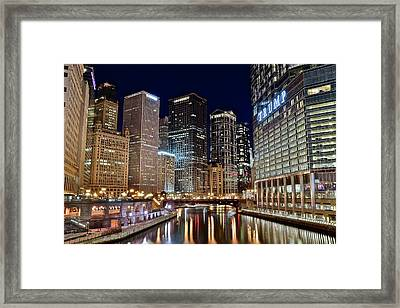 River View Of The Windy City Framed Print by Frozen in Time Fine Art Photography