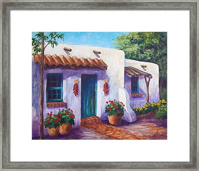 Riverbend Adobe Framed Print by Candy Mayer