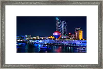 Riverfront Balloons Framed Print by Marvin Spates