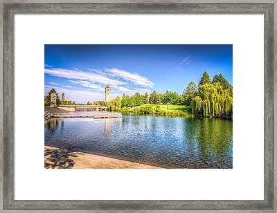 Riverside Park In Spokane Framed Print by Spencer McDonald