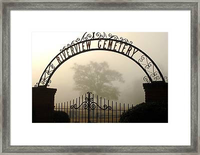 Riverview Cemetery II Framed Print by Wayne Archer