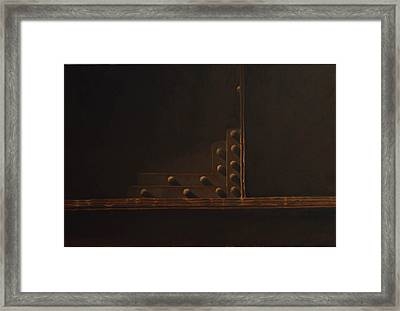 Rivets And Shadow Framed Print by Scott Geyer