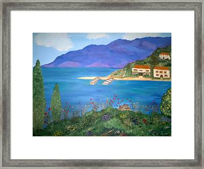 Riviera Remembered Framed Print by Alanna Hug-McAnnally