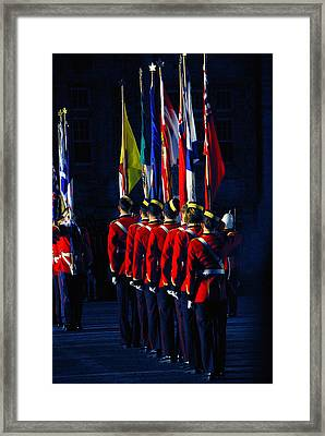 Rmc Colours Guard Framed Print by Paul Wash