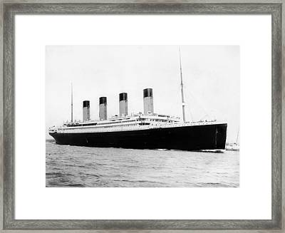 Rms Titanic Framed Print by War Is Hell Store