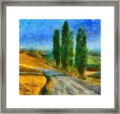 Road In Tuscany Framed Print by Dragica  Micki Fortuna