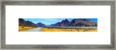 Road Into Mt Cook Framed Print by Bill  Robinson