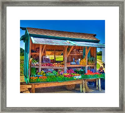 Road Side Fruit Stand Framed Print by William Wetmore