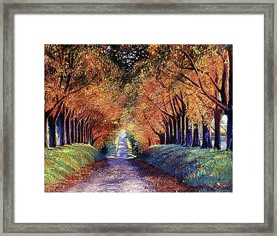 Road To Cognac Framed Print by David Lloyd Glover