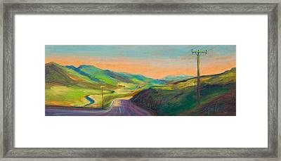 Road To Horse Tooth Framed Print by Athena  Mantle