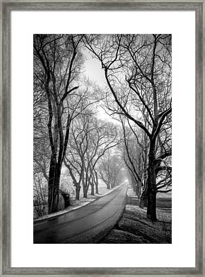 Road To Meems Bottom Bridge Framed Print by Williams-Cairns Photography LLC