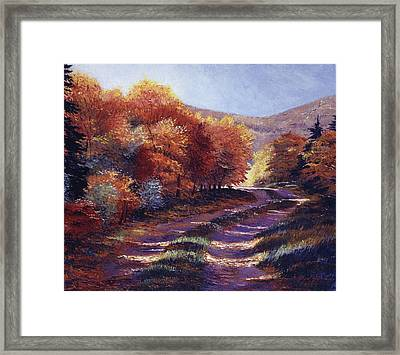 Road To My Heart Framed Print by David Lloyd Glover