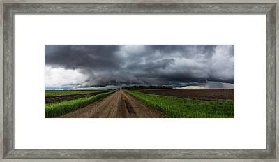 Road To Nowhere - Tornado Framed Print by Aaron J Groen