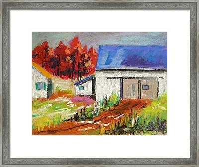 Road To The Barn Framed Print by John Williams
