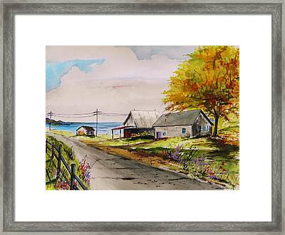 Road To The Bay Framed Print by John Williams