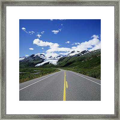 Road To Worthington Glacier Framed Print by Bill Bachmann - Printscapes