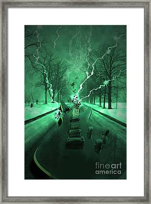 Road Trip Effects  Framed Print by Cathy  Beharriell