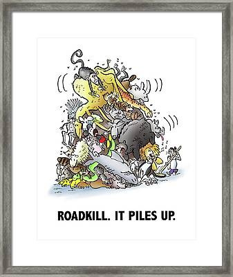 Roadkill Framed Print by Mark Armstrong