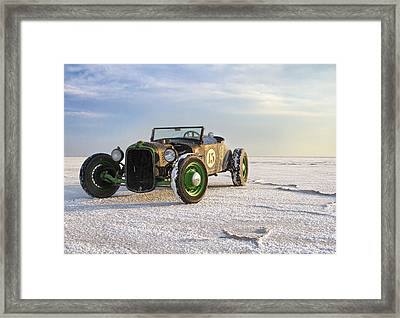 Roadster On The Salt Flats 2012 Framed Print by Holly Martin