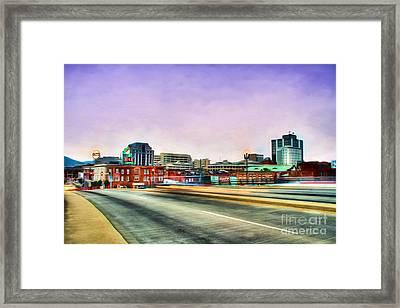 Roanoke Virginia Framed Print by Darren Fisher