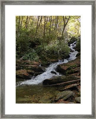 Roaring Fork Falls - October 2015 Framed Print by Joel Deutsch