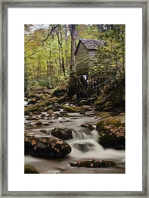 Roaring Fork Grist Mill Framed Print by Jonas Wingfield