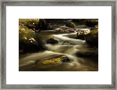 Autumn At Roaring Fork River Framed Print by Carol Mellema