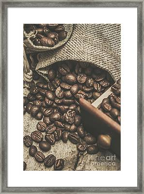 Roasted Coffee Beans In Close-up  Framed Print by Jorgo Photography - Wall Art Gallery