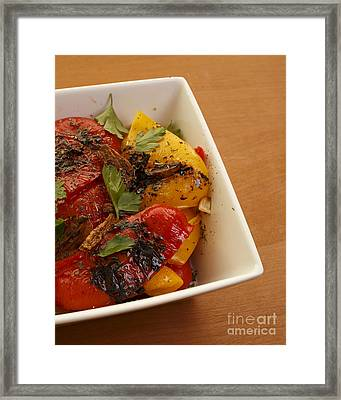 Roasted Peppers Framed Print by Edward Fielding
