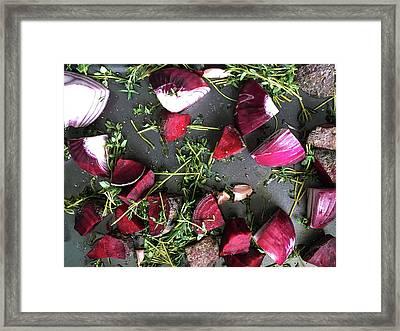 Roasting Vegetables Framed Print by Tom Gowanlock