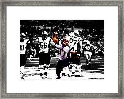 Rob Gronkowski Touchdown Framed Print by Brian Reaves