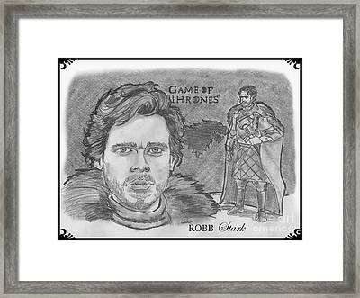 Robb Stark King Of The North Framed Print by Chris  DelVecchio
